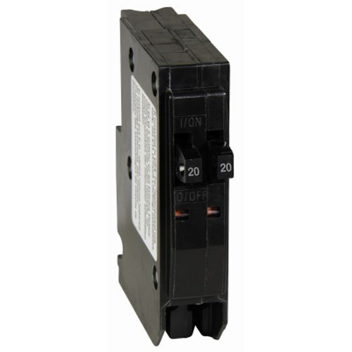 Amp Tandem Circuit Breaker - Square D by Schneider Electric QO2020CP QO 2-20-Amp Single-Pole Tandem Circuit Breaker