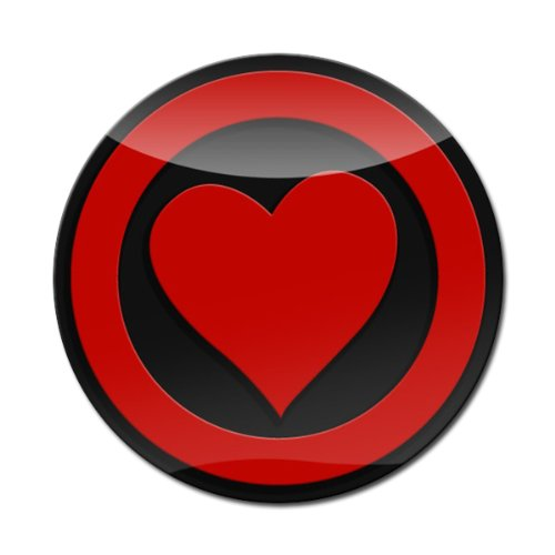 GoBadges LC0024 3D Heart RED 3 Magnetic Acrylic Layered Grill Badge//UV Stable /& Weather-Proof//Works Grill Badge Holder