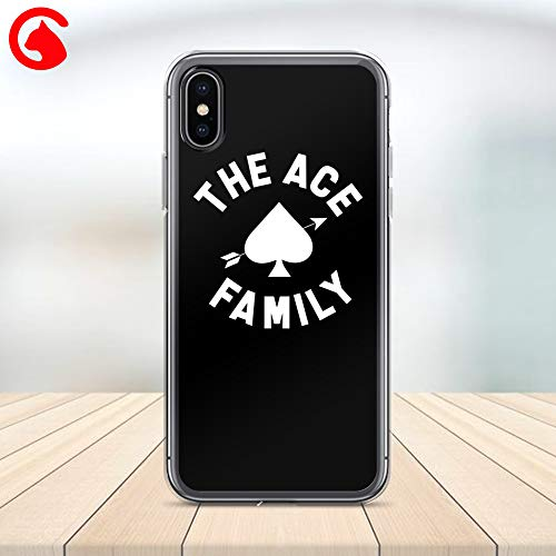 CatixCases Ace Family Phone Case White Black Ace Custom Name Cell Plastic Сlear Case for Apple iPhone X/XS/XR/XS Max / 7/8 / plus iPhone 6 / 6S plus Protector Protective ()