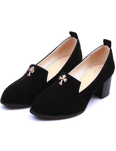 Black À Talon Décontracté Chaussures chaussures Bout Rouge Femme Talons Travail noir Pointu gros Eu40 laine Bleu bureau Cn41 amp; Uk7 talons us9 Ggx Synthétique ZdHxqwXvH