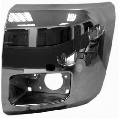 New Front Left Driver Side Bumper End For 2012-2013 Chevrolet Pickup Chevy Silverado And Chevy Silverado Hybrid Chrome, For Use With Fog Lights, 1500/Hybrid Models GM1004156