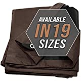Tarp Cover Brown/Black Heavy Duty 20 Mill Thick Material, Waterproof 12'X20' Great for Tarpaulin Canopy Tent, Boat, RV Or Pool Cover! by Trademark Suplies (Poly Tarp 12X20, Ultra Thick)