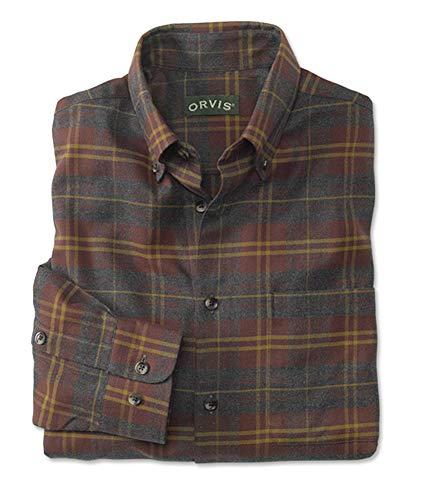 Orvis Men's Luxury Flannel Long-Sleeved Shirt/Regular, Wine, Large ()