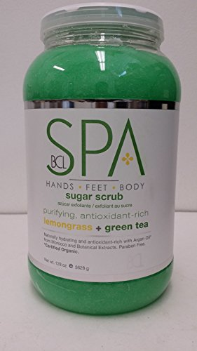 Bcl Spa Sugar Scrub Organic Certification, Lemongrass Green Tea, 1 Ounce