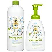 Babyganics Foaming Dish & Bottle Soap - Fragrance Free - 48 fl oz
