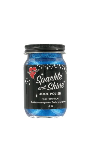 ER-BLUE Sparkle and Shine Glitter Hoof Polish for Horses, Blue ()