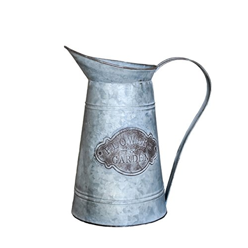 Rustic Style Flowers amp Garden Galvanized Milk Jug Metal Vase Pitcher