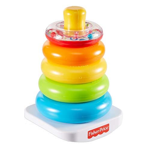 Fisher-Price GKD51 – kleurringpiramide, klassiek stapelspeelgoed met ringen voor baby's en peuters vanaf 6 maanden