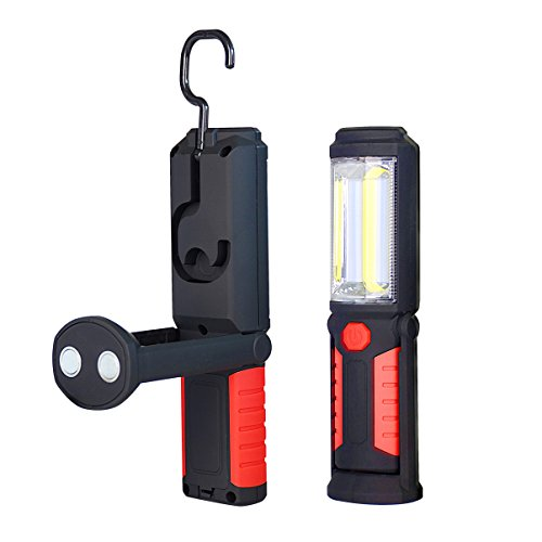 LED Work Light KASIMO Portable Inspection Hands-free Flashlight Super Bright COB Cordless 360 Degree Rotating Hook Magnet Ultra Bright and Portable for Home Garage Camping Emergency LED work light by KASIMO