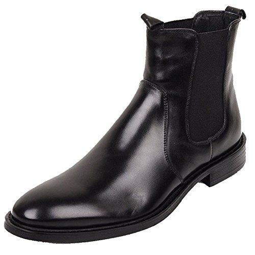 Cerniere Da Scarpe Stivaletti Pelle In Classici Shoe Chelsea Uomo Wuf Nero Laterali Adulto 0zqx5dww