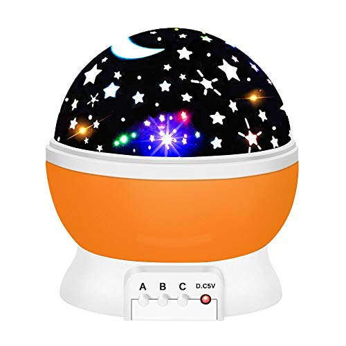 Birthday Presents for 2-10 Year Old Girls, Tisy Star Night Lights for Kids Toys for 2-10 Year Old Girls Gifts Age 2-10 Orange TSUKXK05]()