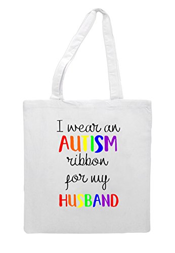 Bag Husband Autism Shopper My Wear Tote For White I Ribbon An nP1TfqZZw8