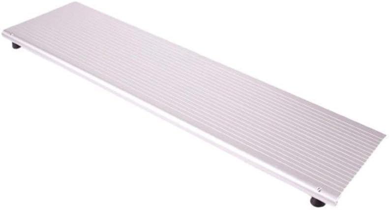 YJYLJ Rampas Umbral, De Plata Cubierta De Aleación De Aluminio Rampas Antideslizante Discapacitados con Silla De Ruedas Rampas Escaleras Paso Cuesta Arriba Pad (Tamaño: 76.5cm)