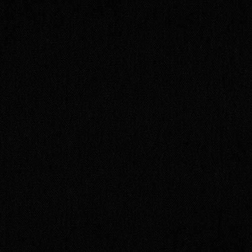 Ben Textiles Dutchess Stretch Crepe Fabric, Black, Fabric By The Yard