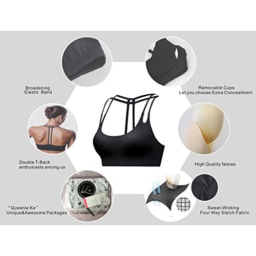 quality design 84f90 02bfa 80%OFF Queenie Ke Women s Middle Support Circuit Breaker Sport Bra