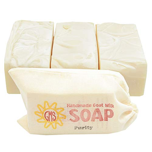 (Goat Milk Soap - PURITY (Unscented). All-Natural, Handmade by Goat Milk Stuff. Bars 5 oz. each, 4)