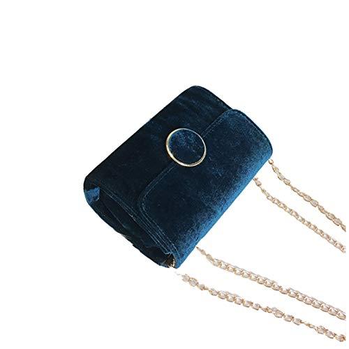 Cadena Bolso Para De Azul Mujer Clasicas Bandolera Cuero Mensajero Daqao Comodas Pu Simple Bolsos Impermeable EzwqTz