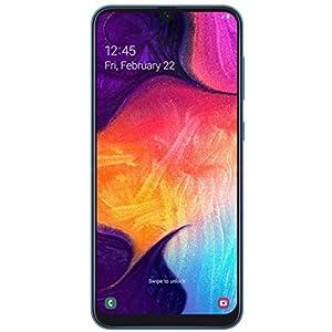 Samsung Galaxy A50 A505G 64GB Duos GSM Unlocked Phone w/Triple 25MP Camera – (International Version, No Warranty) – Blue