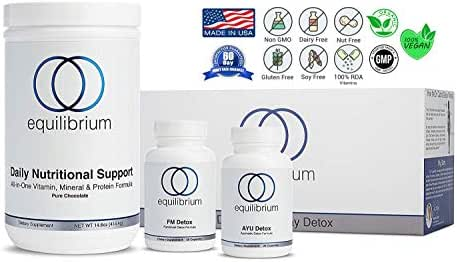 Equilibrium Nutrition 7 Day Revolutionary Full-Body Chocolate Detox and Transformation, Scientifically Researched, Weight Loss System. All Natural Cleanse, Organic Superfood Nutrients