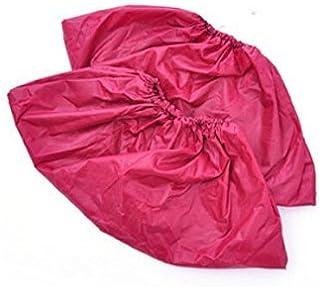 réutilisable à chaussures Covers-waterproof-wearproof-dustproof-mudproof durable, épais Material-one Taille Compatible avec tous les modèles jusqu'à XL, Rouge (10paires)