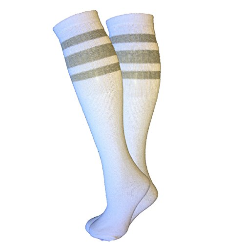 Sports Tube Socks Multi Striped Size 10-15 (Grey) (10 Supply Tube)