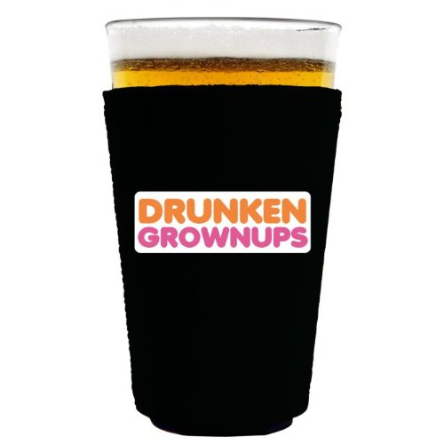 Coolie Junction Drunken Grownups Funny Pint Glass Coolie Black