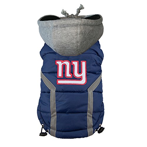 NFL New York Giants Dog Puffer Vest, XX-Large by Littlearth