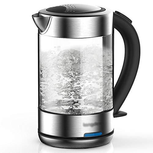 【買取】ガラス電気やかんの透明な沸騰水1.5L 1800Wの濃い灰色の ...
