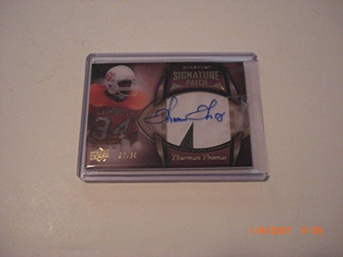 - Thurman Thomas 2013 Ud Quantum 2-color Game Used Jersey Auto 02/30 Signed Card - Football Game Used Cards