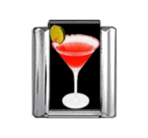 - Stylysh Charms Cocktail RED Rover Martini Photo Italian 9mm Link NC149