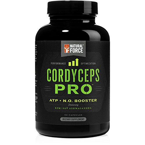 Natural Force® Cordyceps PRO - POWERFUL NITRIC OXIDE BOOSTER and NATURAL PRE-WORKOUT – With Herbs for Energy, Paleo, Vegan, Non GMO, Gluten Free and Caffeine Free Pre-Workout, 90 V-Capsules