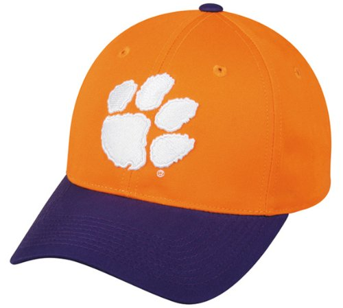 Clemson Tigers ADULT Baseball/Football Cap NCAA Officially Licensed College Velcro Adjustable Replica Hat