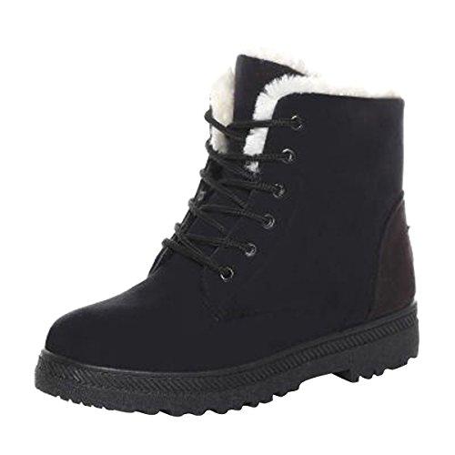 VFDB Velvet Platform Sneaker Boots Winter High Top Lace Up Ankle Snow Boots Black 7.5 B M  US (Black Lace Shoe Up Velvet)