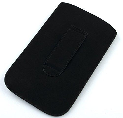 NFE² Etui - schwarz - mit Ausziehlasche und flacher Gürtelschlaufe für Apple iPhone 6