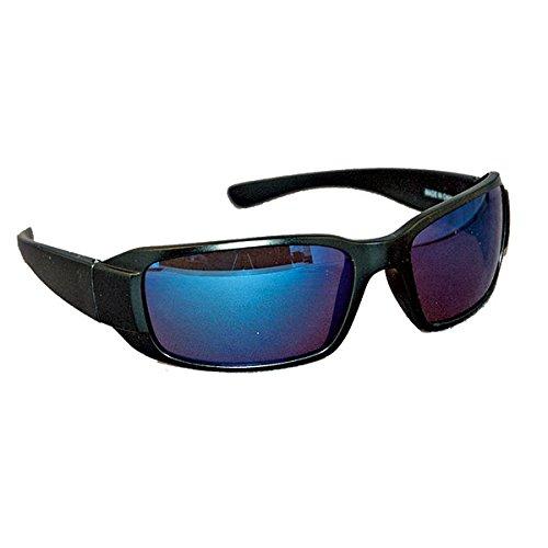 (Ironwear Waterford 3015 Series Nylon Protective Safety Glasses, Blue Mirror Lens, Matte Black Frame (3015M-BM))