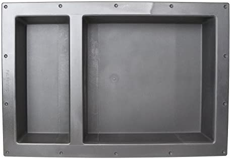 "SHOWER CUBE Leakproof 17/"" x 25/""  Bathroom Recessed Shower Double Shelf Niche"