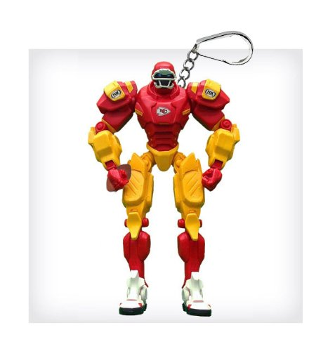 "Kansas City Chiefs 3"" Team Cleatus FOX Robot NFL Football Key Chain Version 2.0"
