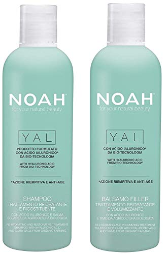 Noah Hair - Yal Hydrating Shampoo and Conditioner Set - With Hyaluronic Acid - Hair Care for Natural Beauty - 8.5 fl.oz (250 ml) Each