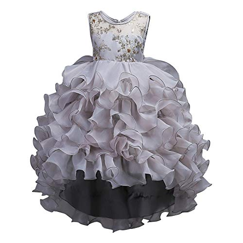 Dressin Flower Girl Princess Layered Dress Pageant Tutu Tulle Cupcake Gown Party Wedding Dress(24m-14T ()