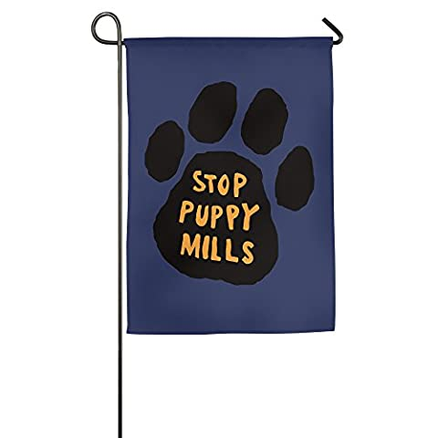 Stop Puppy Mills Decorative Colorful Mulitcolor House Flag Garden Flag 1827inch (Carson Animal Shelter)