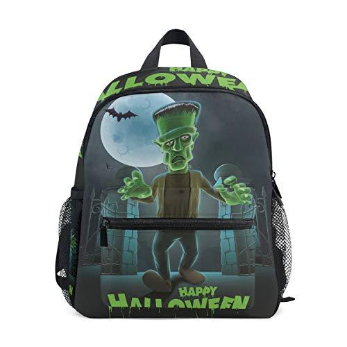 MUOOUM Halloween Zombie Bat Kids Backpack Pre-School Toddler Bag Travel Daypack