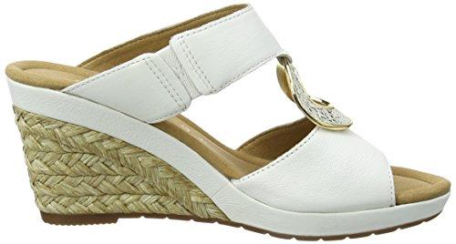 Gabor Shoes 62.825, Sandalias con Cuña Mujer Blanco (Weiss Bast)