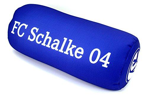 Set: Schalke 04 Nackenrolle und Kofferband Nackenkissen Dekokissen Autokissen Relaxkissen Kissen gepäckband