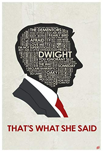 The Office. Michael Scott: That's What SHE Said. Word Art Print Poster (12
