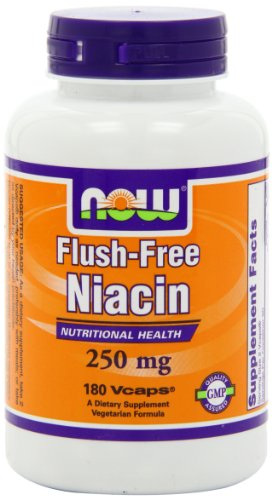 NOW Foods Flush Free Niacin 250mg, 180 Capsules, Health Care Stuffs