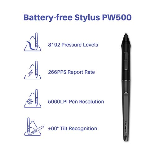 Huion Inspiroy Dial Q620M Android Supported Wireless Drawing Graphics Tablet with Dial Controller Battery-Free Stylus Tilt-10.5inch