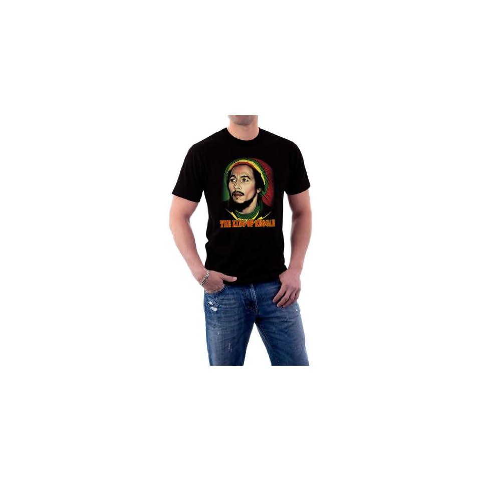 Bob Marley Rasta King Of Reggae Hemp Jamaica Beanie T shirt Clothing