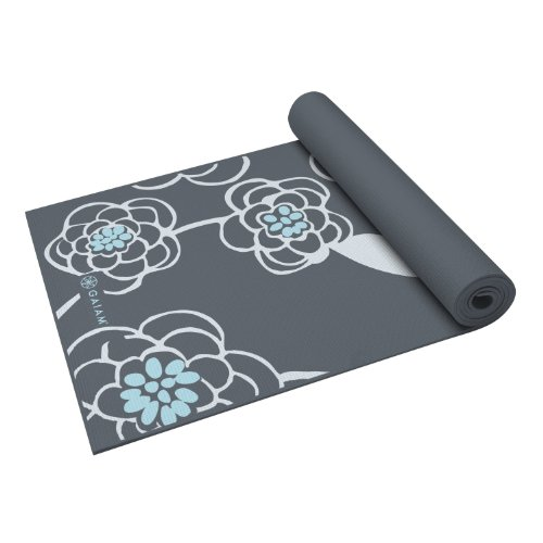 Gaiam Premium Print Yoga Mat, Icy Blossom, 5mm