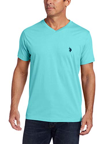 (U.S. Polo Assn. Men's V-Neck T-Shirt, Painters Aqua)