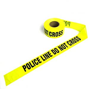 amazon com crime scene barricade tape yellow police line home